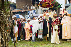 People in LALIBELA, ETHIOPIA Royalty Free Stock Photos
