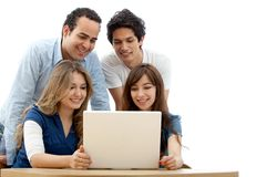People with a laptop Royalty Free Stock Photo