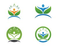 People leaf green nature health logo and symbols Royalty Free Stock Images