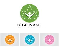 People leaf green nature health logo and symbols.  Stock Photos