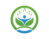 People leaf green nature health logo and symbols Stock Photography