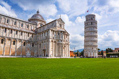 People at the Leaning Tower of Pisa in Italy Stock Photo