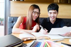 People, learning, education and school concept. Stock Image