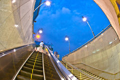 People leave the metro station Royalty Free Stock Photography