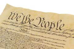 We The People - Left Facing Royalty Free Stock Photo