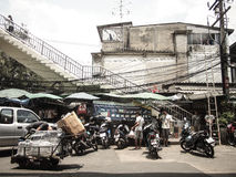 People life in Bangkok royalty free stock photography