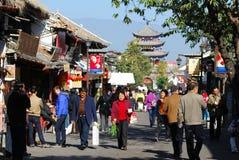 People life at Dali ancient city. YUNNAN, CHINA-NOVEMBER 13 : People daily life at Dali Ancient City, one of the 'Three Ancients' (Ancient Cities, Ancient Royalty Free Stock Images