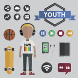 People Lifestyle Contemporary Icon Vector Concept Stock Images