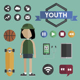 People Lifestyle Contemporary Icon Vector Concept Royalty Free Stock Photography
