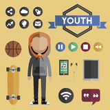 People Lifestyle Contemporary Icon Vector Concept Royalty Free Stock Photo