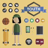 People Lifestyle Contemporary Icon Vector Concept Royalty Free Stock Image