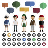 People Lifestyle Contemporary Icon Vector Concept Stock Photography