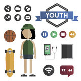 People Lifestyle Contemporary Icon Vector Concept.  Stock Photo