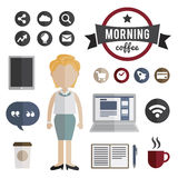 People Lifestyle Contemporary Icon Vector Concept Royalty Free Stock Images