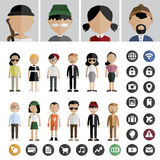 People Lifestyle Contemporary Icon Vector Concept Stock Image