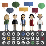 People Lifestyle Contemporary Icon Vector Concept Royalty Free Stock Photos