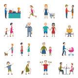 People Lifestyle Icon Set Royalty Free Stock Photos