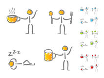 People lifestyle scribble icons Stock Photo