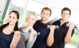People lifting weights Stock Photography