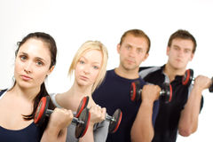 People lifting weights Stock Image