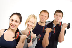 People lifting weights royalty free stock photos