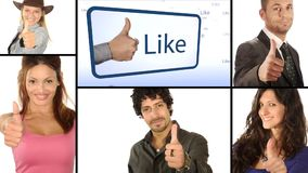 People like it, collage stock video footage