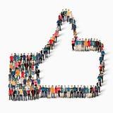 People like crowd stock illustration