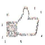 People like crowd vector Stock Photos