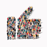 People like crowd vector Stock Photography