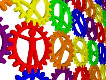 People like gears - company, work, individuality Stock Photo