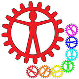 People like gears - company, work, individuality Royalty Free Stock Photography