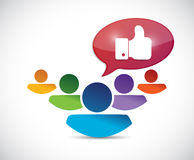 People and like hand illustration design Royalty Free Stock Images