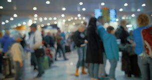 People Line in Airport stock footage