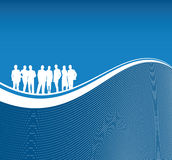 People Line Background Royalty Free Stock Photo