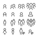 People line icon set Stock Photography