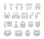 People Line Icons. Family, business, team, sucess concepts Royalty Free Stock Image