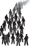 People In Line Royalty Free Stock Images