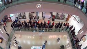 People line up for waiting celebrity photograph stock video