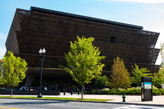 People Lined Up Outside the National Museum of African American History. WASHINGTON, DC - JULY 12, 2017:  People lined up outside of the National Museum of Stock Photos