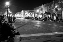 People Lining the Streets of Burlington royalty free stock photos