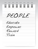 People list on a notepad illustration Stock Photo
