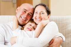 People with little girl Royalty Free Stock Photo