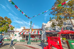 People in Little Italy SD royalty free stock photos