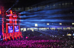 People at a live concert Stock Image