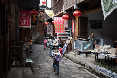 The people lives in ancient town Stock Photography