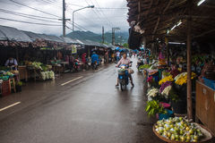 People on local market in Mae Hong Son Stock Image