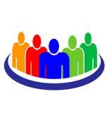 People logo. Teamwork people business around logo vector eps10 Stock Image