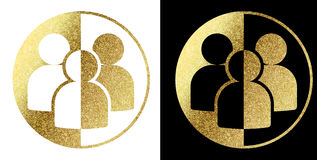 People logo. In bright gold Royalty Free Stock Photos