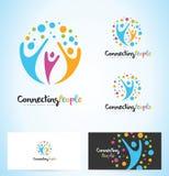 People Logo Design Royalty Free Stock Photo
