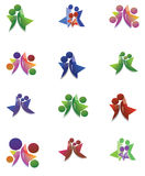 People logo. An illustration of a set of people/family logos/icons Stock Illustration